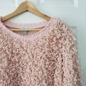 She and Sky Sweaters - She + Skye Light Pink Boucle Pullover Sweater